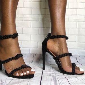 Cape robbin rope sandals black